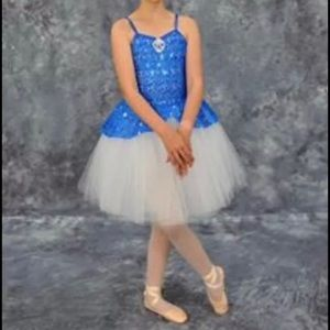 Costume Gallery Blue and White Romantic Style Tutu Ballet Size MC Medium Child